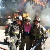 Morgan Murphy, FSE  Madison County Fire Department Interns at Live Training Burn