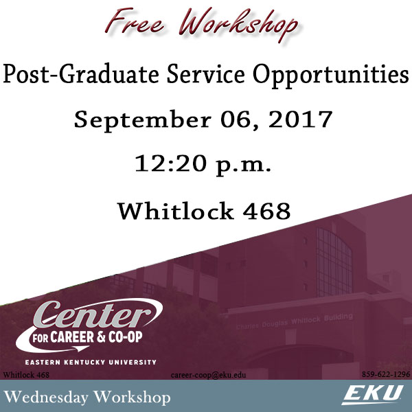 Post-Graduate Service Opportunities