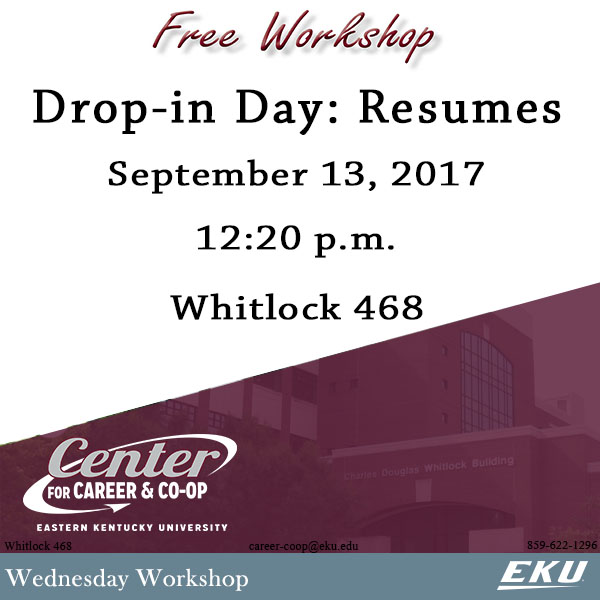 9_13_Drop-in Day-Resumes_Wednesday