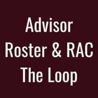 Advisor Roster and RAC